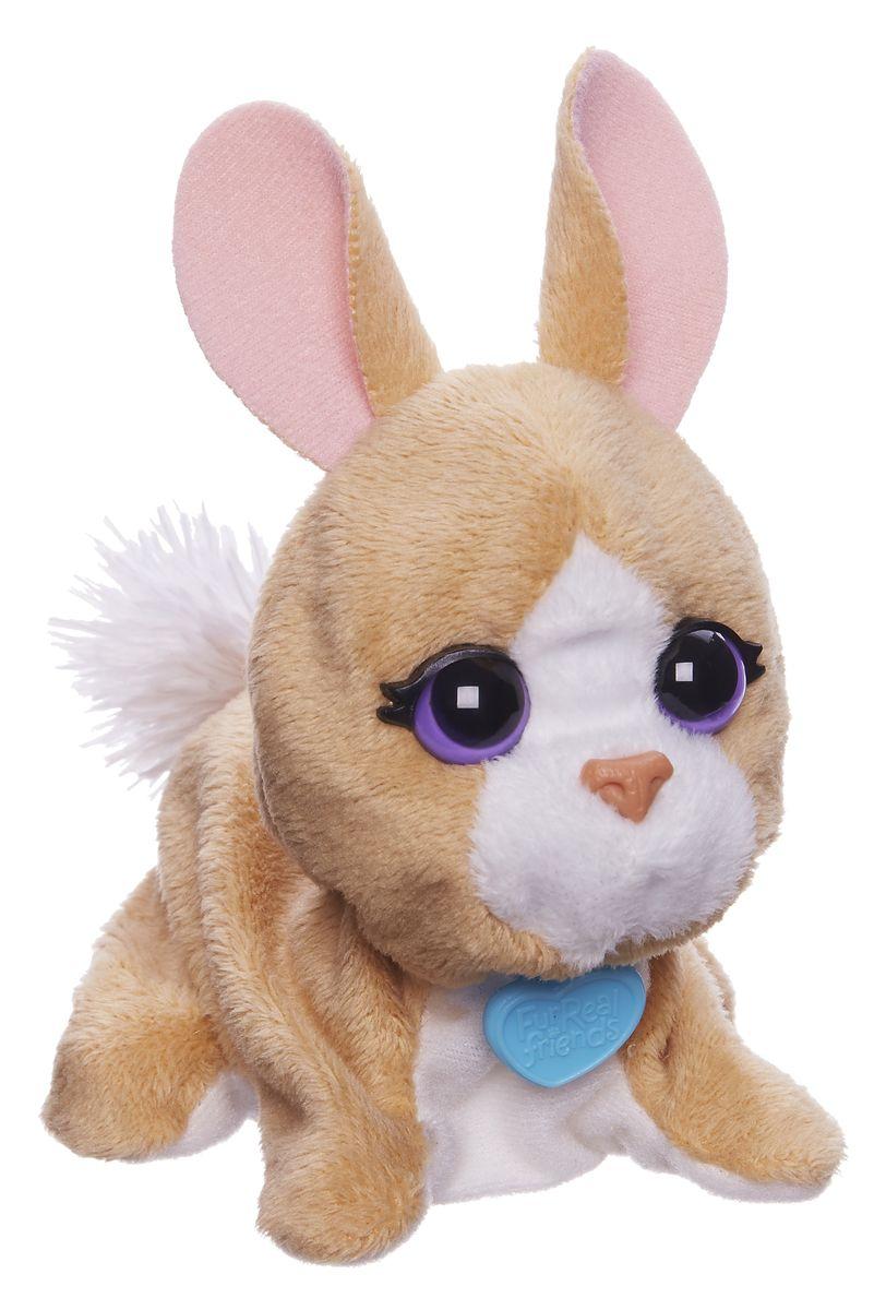 FurReal Friends Интерактивная игрушка ЗайчикB0698EU4Ваш ребенок мечтает о красивом маленьком зверьке, но нет возможности исполнить его желание? Анимированная игрушка FurReal Friends Поющие зверята: Зайчик приведет в восторг вашего малыша. Приятная на ощупь игрушка выполнена в виде очаровательного зайчика с сиреневыми глазками. При нажатии кнопки на его спинке он поднимает голову и издает забавные мелодичные звуки. Игрушка принесет ребенку много радости и станет верным другом на долгое время. Рекомендуется докупить 2 батарейки напряжением 1,5V типа LR44/AG13/А76 (товар комплектуется демонстрационными).