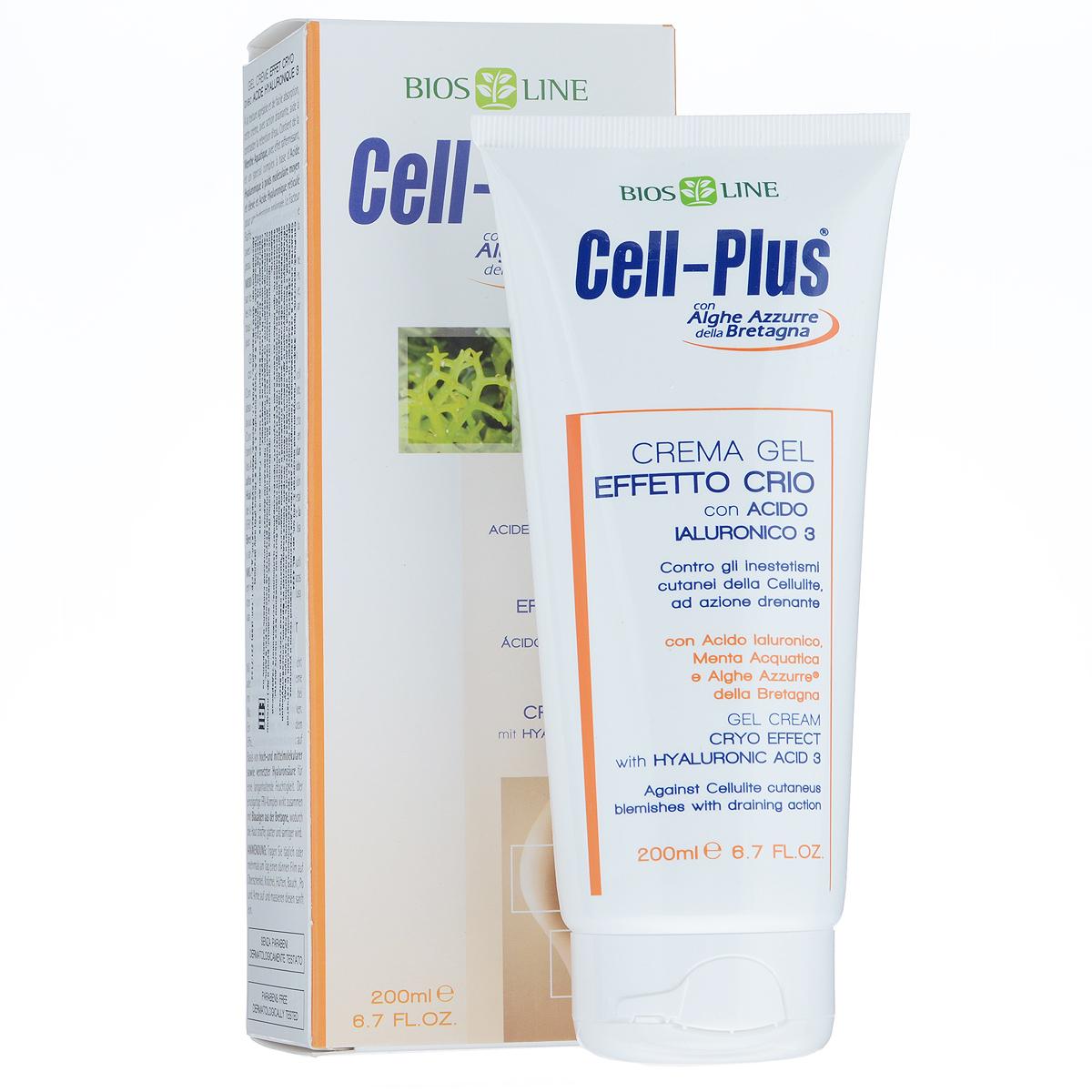 Cell-Plus Крем-гель с крио-эффектом с гиалуроновой кислотой, 200 мл