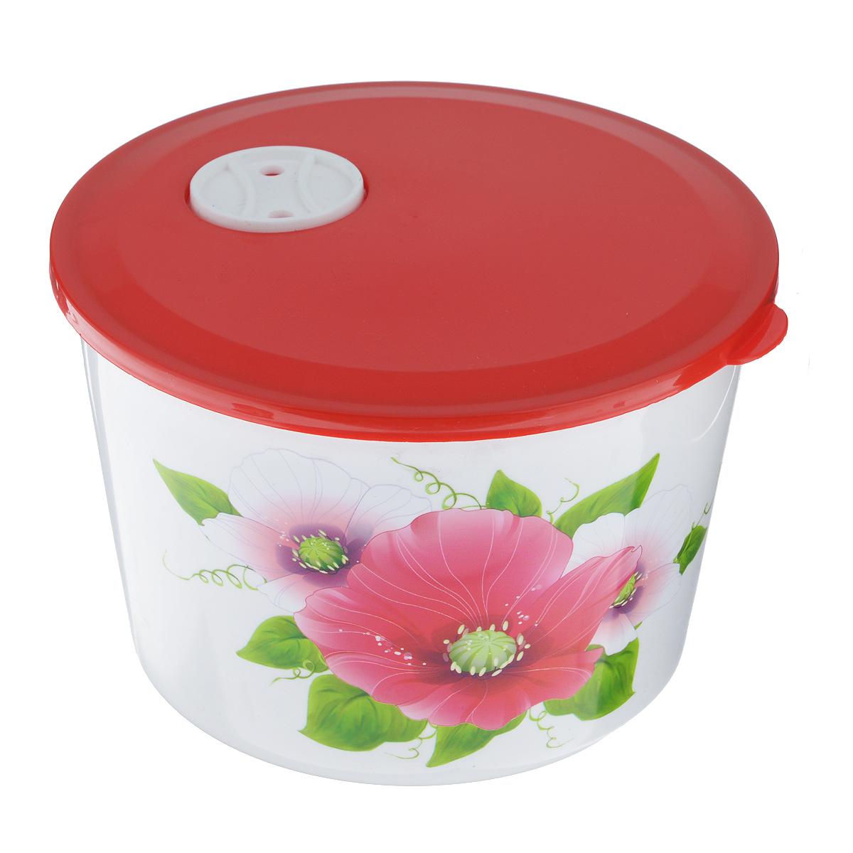 Контейнер Альтернатива Маки, цвет: красный, 1,7 лМ2198Контейнер Альтернатива Маки изготовлен из высококачественного прочного пластика. Украшен изображением цветков мака. Крышка плотно закрывается, дольше сохраняя продукты свежими и вкусными. На крышке имеется специальный клапан, который обеспечивает герметичность. Контейнер идеально подходит для хранения пищи, его удобно брать с собой на работу, учебу, пикник или просто использовать для хранения продуктов в холодильнике.