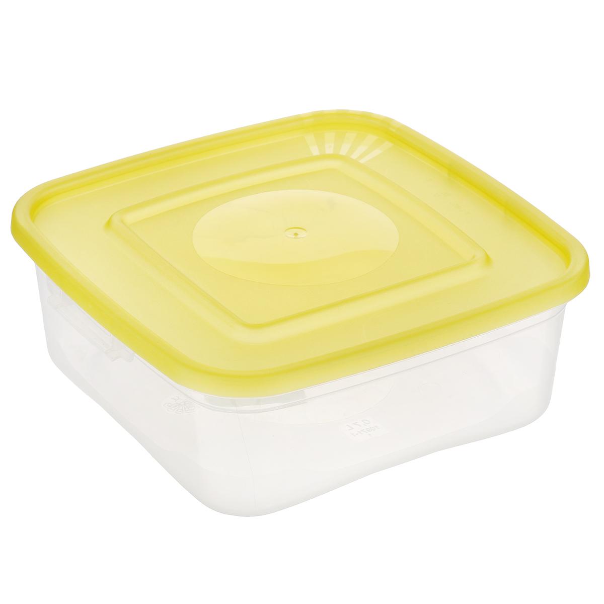 Контейнер для СВЧ Полимербыт Каскад, цвет: желтый, прозрачный, 700 млС640_желтыйКонтейнер для СВЧ Полимербыт Каскад изготовлен из высококачественного прочного пластика, устойчивого к высоким температурам (до +110°С). Стенки контейнера прозрачные, что позволяет видеть содержимое. Цветная полупрозрачная крышка плотно закрывается. Контейнер идеально подходит для хранения пищи, его удобно брать с собой на работу, учебу, пикник или просто использовать для хранения пищи в холодильнике. Можно использовать в микроволновой печи и для заморозки в морозильной камере. Можно мыть в посудомоечной машине.