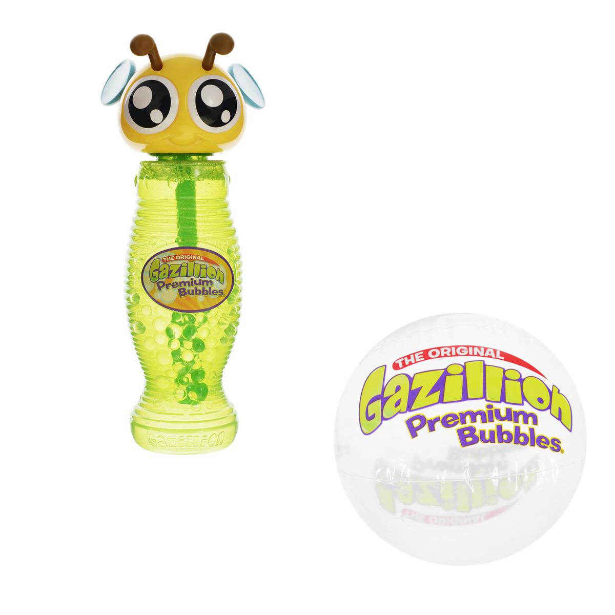 Мыльные пузыри Gazillion Bubbles Пчела, 300 мл36341_пчелаВсе дети обожают пускать мыльные пузыри! С мыльными пузырями Gazillion Bubbles это будет вдвойне интереснее! Ваш ребенок сможет надуть великолепные пузыри разных размеров, которые будут переливаться всеми цветами радуги и парить в воздухе, радуя его. Во флаконе есть палочка-насадка для выдувания бесчисленного количества пузырьков и оригинальная крышечка в виде пчелки.