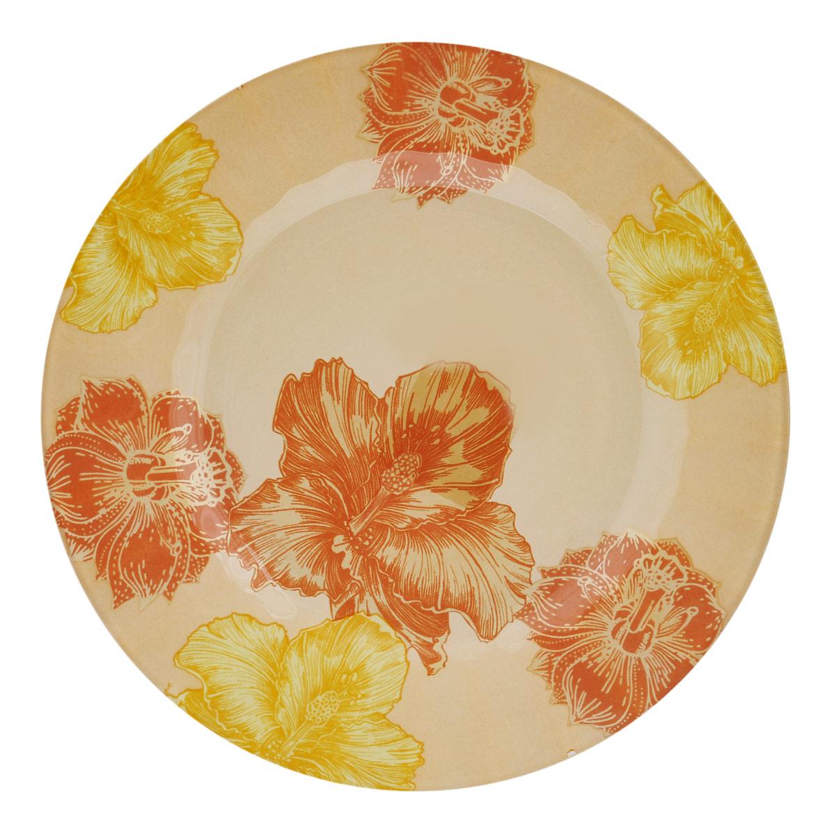 Тарелка House & Holder Цветы, диаметр 23 см. S3009EG008S3009EG008Круглая тарелка House & Holder Цветы, изготовленная из стекла, декорирована ярким изображением. Такая тарелка украсит сервировку вашего стола и подчеркнет прекрасный вкус хозяина, а также станет отличным подарком. Диаметр: 23 см. Высота: 1,9 см.