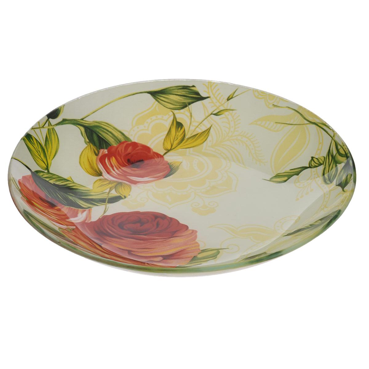 Салатник House & Holder Розы, диаметр 20,5 смS302008NF086Круглый салатник House & Holder Розы, изготовленный из стекла, декорирован ярким изображением. Такой салатник украсит сервировку вашего стола и подчеркнет прекрасный вкус хозяина, а также станет отличным подарком. Диаметр: 20,5 см. Высота: 3,2 см.
