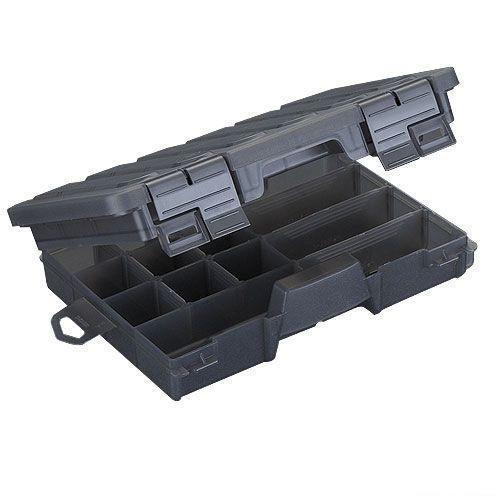 Коробка рыболовная пластиковая двухсторонняя Salmo, цвет: серый