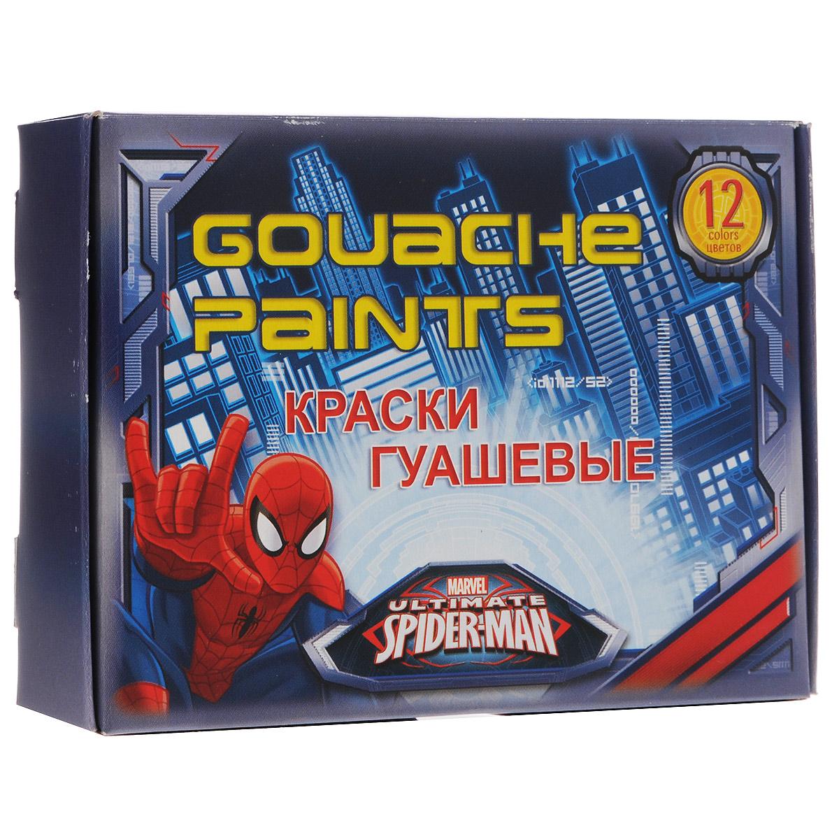 Краски гуашевые Spider-man Classic, 12 цветовSMCB-US1-GU-12Гуашь для детского творчества Spider-man Classic для детского творчества и декоративно-оформительских работ по бумаге, картону, дереву. Краски имеют яркие и насыщенные цвета, а также обладают однородным окрашиванием. Имеют оптимальную цветовую палитру при высыхании приобретают матовую, бархатистую поверхность. Качественные краски нетоксичны, безопасны и обладают средней концентрацией пигмента. Гуашь быстро сохнет на поверхности, обладает прекрасной разносимостью, легко разводится водой, хорошо ложится на бумагу. Идеально подходят для уроков рисования в начальных классах. Объем краски одного цвета 15 мл.