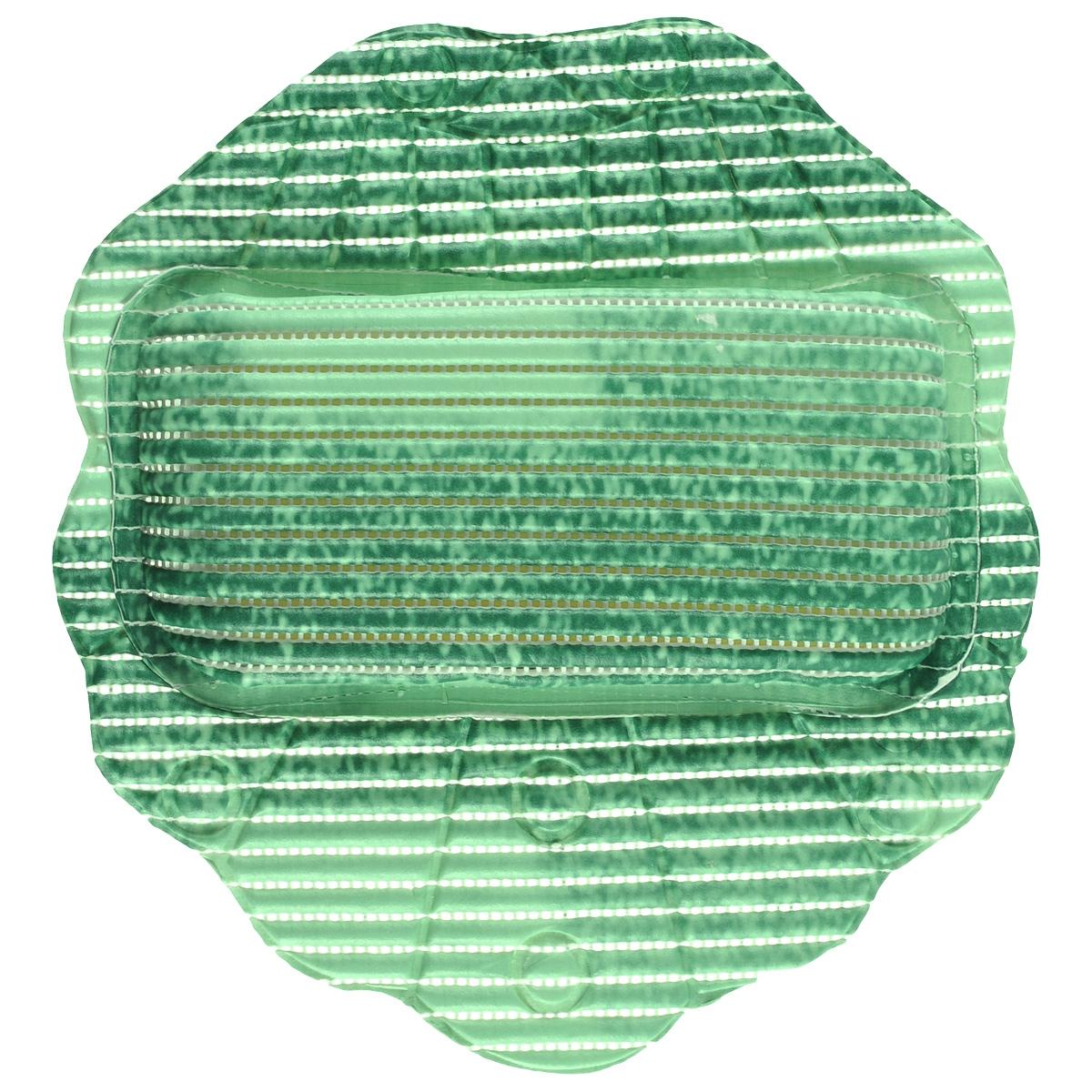 Подушка для ванны Fresh Code Flexy, цвет: зеленый, 33 х 33 см55764 зеленыйПодушка для ванны Fresh Code Flexy обеспечивает комфорт во время принятия ванны. Крепится на поверхность ванной с помощью присосок. Выполнена из ПВХ.