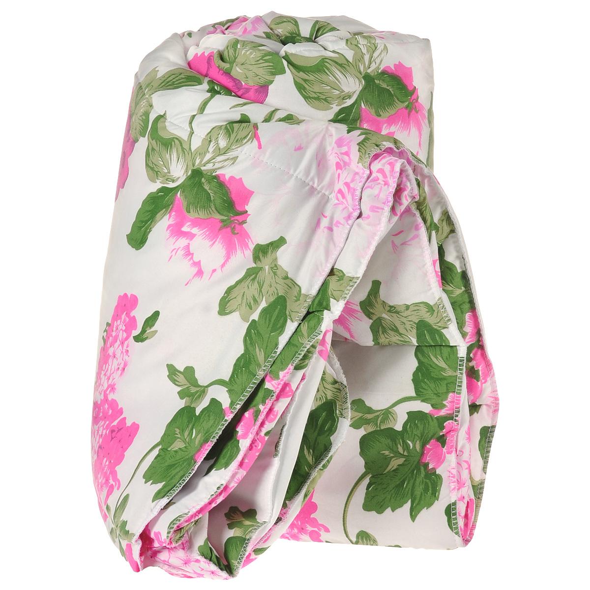 Одеяло Диана Мечта, наполнитель: термофайбер, цвет: белый с розовыми цветами, 200 х 210 см ОМ-210-200ОМ-210-200_белый с розовыми цветамиОдеяло Диана Мечта приятно удивит вас и создаст атмосферу тепла и комфорта в вашем доме. Одеяло изготовлено из полиэстера, а наполнителем является термофайбер. Термофайбер - нетканое полотно, состоящее из полого полиэфирного силиконизированного и легкоплавкого волокон. Полое силиконизированное полиэфионое волокно - это великолепный современный наполнитель для постельных принадлежностей. Соединяясь между собой, волокна образуют упругую пружинистую структуру. Благодаря ей наполнитель удерживает тепло в холодную погоду и не препятствует свободной циркуляции воздуха для удаления влаги в жаркую погоду. Наполнитель не сваливается и не приминается, великолепно сохраняя форму даже после многократных стирок и сушек, подходит людям, страдающим аллергией на пух и перья. Свойства термофайбера: - отличные теплоизоляционные свойства; - воздухопроницаемость; - гипоаллергенность; - простой и легкий уход; - быстро высыхает и восстанавливает объем...