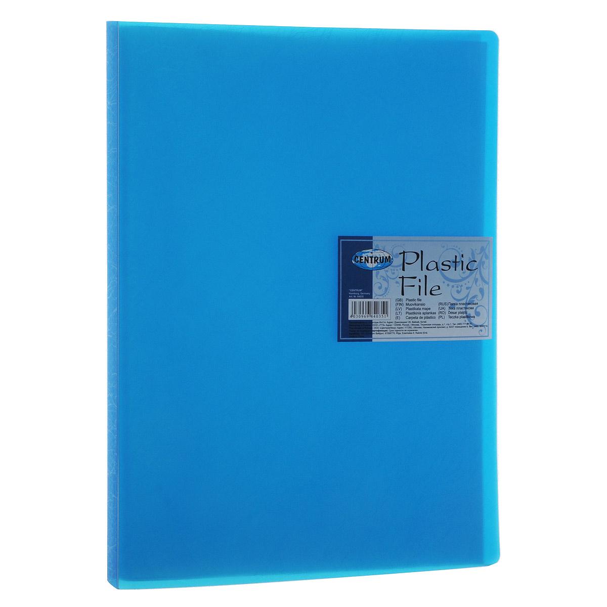 Centrum Папка с файлами Soft Touch 20 листов цвет синий84035Папка Centrum Soft Touch с 20 прозрачными вкладышами-файлами предназначена для хранения и презентации документов формата А4. Папка изготовлена из полупрозрачного фактурного пластика, благодаря чему документы, помещенные в нее, будут надежно защищены. Прочное соединение папки и вкладышей обеспечено за счет их лазерной сварки. Углы папки закруглены. Папка надежно сохранит ваши документы и сбережет их от повреждений, пыли и влаги.