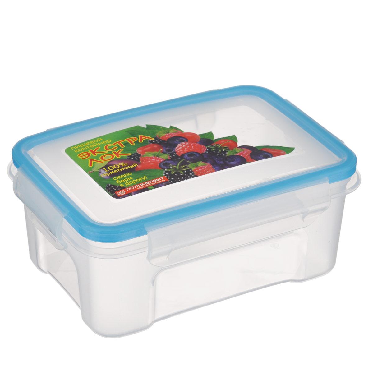 Контейнер Экстра лок, цвет: синий, 750 млС761 синийКонтейнер Экстра лок изготовлен из прочного пластика, предназначен специально для хранения пищевых продуктов. Крышка легко открывается и плотно закрывается. Прозрачные стенки позволяют видеть содержимое. Контейнер устойчив к воздействию масел, жиров, легко моется. Имеет возможность хранения продуктов глубокой заморозки, обладает высокой прочностью. Можно мыть в посудомоечной машине. Подходит для использования в микроволновых печах.