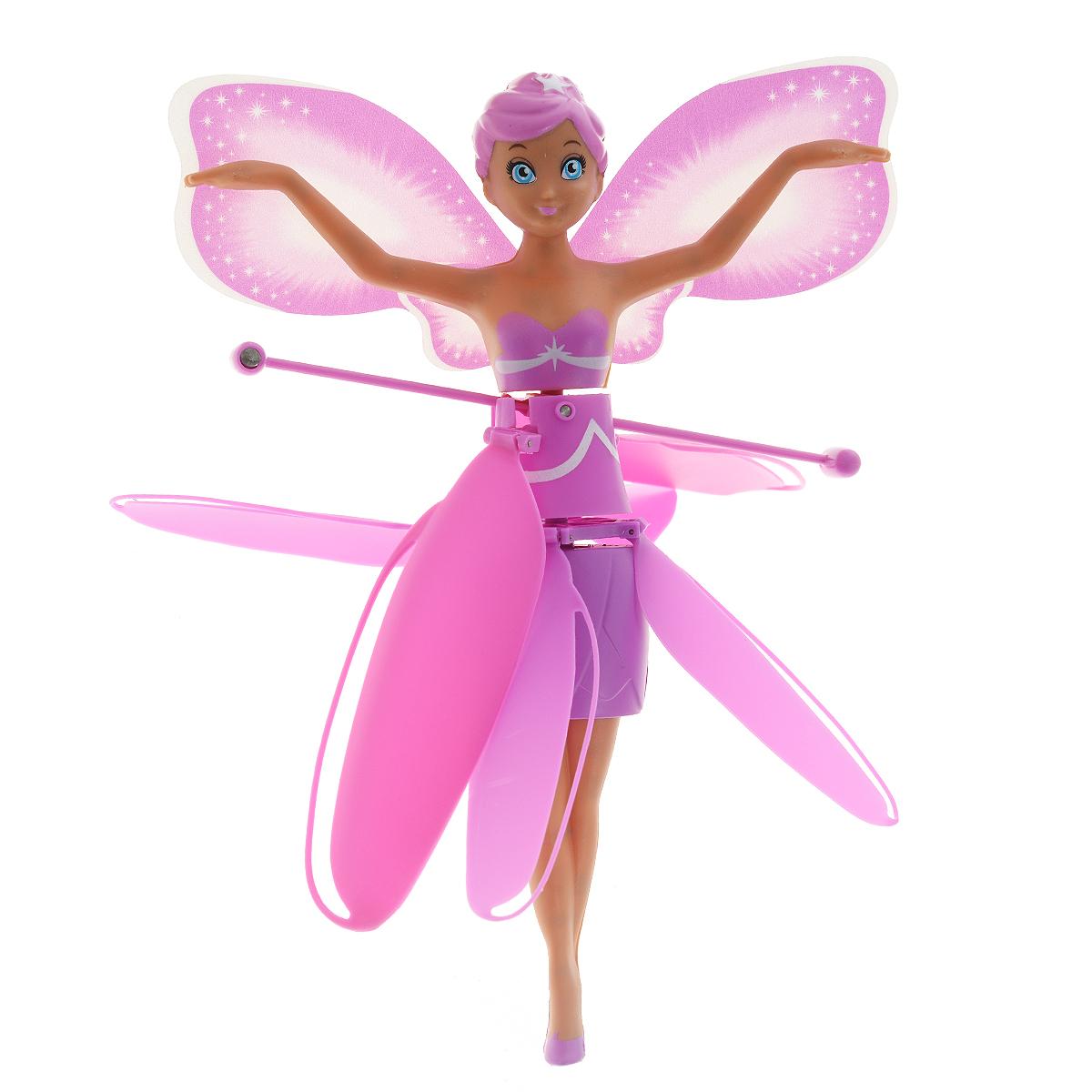 Star Fly Мини-кукла Летающая Принцесса20000Фантазии о сказочных феях, парящих в воздухе, Star Fly воплотили в новых, современных игрушках. Очаровательные Летающие принцессы действительно могут порхать в воздухе! Уникальная технология позволяет игрушке держать определенную дистанцию от любых предметов и поверхностей. Радиус полета - 2 метра, в комплект входит устройство для запуска куклы. Кукла выполнена из пластика. Ее броские, эффектные крылья - это настоящая заявка на звание супермодницы, а юбка и топ под цвет крыльев и туфельки делают ее просто неотразимой! Кукла Star Fly станет отличным подарком для вашей малышки. Кукла работает от аккумулятора 3,7V 100 mA/h (входит в комплект). Пусковое устройство работает от 4 батареек напряжением 1,5V типа AA (не входят в комплект).