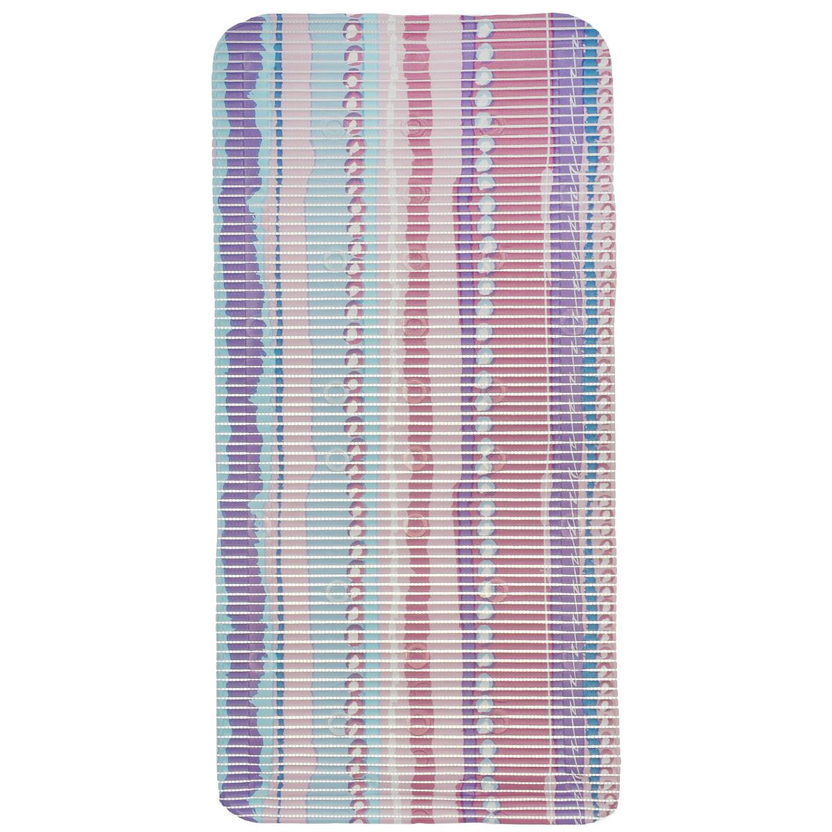 Коврик для ванной Fresh Code, на присосках, цвет: розовый, 90 см х 43 см55765 розовыйКоврик для ванной Fresh Code из мягкого ПВХ создаст комфортное антискользящее покрытие в ванной. Крепится ко дну ванны при помощи присосок. Может также использоваться в качестве покрытия для ванной комнаты. Рекомендации по уходу: протрите коврик влажной губкой с мягким моющим средством, тщательно ополосните чистой водой и просушите.