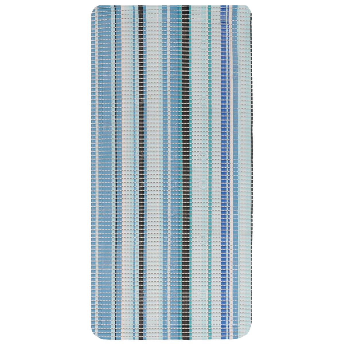 Коврик для ванной Fresh Code, на присосках, цвет: синий, 90 х 43 см55765 синийКоврик для ванной Fresh Code из мягкого ПВХ создаст комфортное антискользящее покрытие в ванной. Крепится ко дну ванны при помощи присосок. Может также использоваться в качестве покрытия для ванной комнаты. Рекомендации по уходу: протрите коврик влажной губкой с мягким моющим средством, тщательно ополосните чистой водой и просушите.