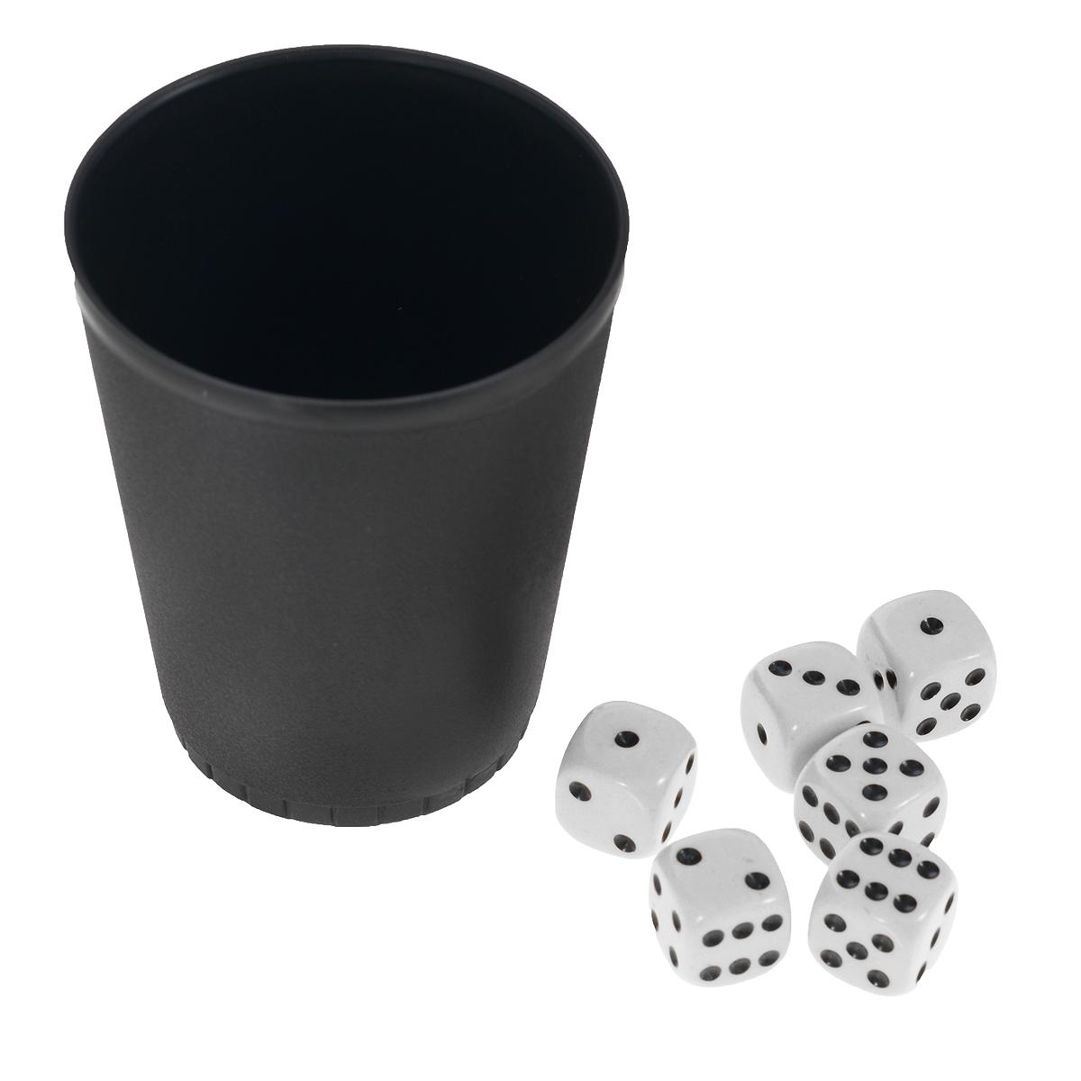 Игра настольная Русские Подарки Кости, размер: 10*10*8 см. 4243542435Игра настольная Русские Подарки Кости - это интересная настольная игра для детей старше 5 лет. Кубики и стакан выполнены из высококачественных материалов, благодаря чему набор станет отличным подарком. Данная игра имеет небольшой размер, что позволяет брать её с собой в дорогу. В наборе стаканчик и шесть кубиков.