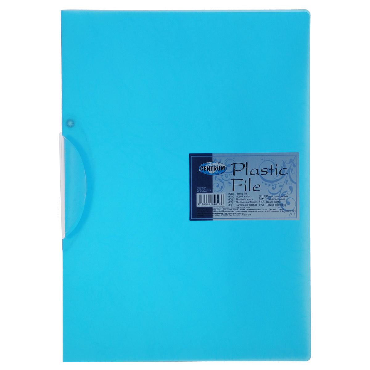 Папка с клипом Centrum, формат А4, цвет: синий84018Папка с клипом Centrum - это удобный и практичный офисный инструмент, предназначенный для хранения и транспортировки неперфорированных рабочих бумаг и документов формата А4. Она изготовлена из прочного пластика и оснащена боковым поворотным клипом, позволяющим фиксировать неперфорированные листы. Папка - это незаменимый атрибут для студента, школьника, офисного работника. Такая папка практична в использовании и надежно сохранит ваши документы и сбережет их от повреждений, пыли и влаги.
