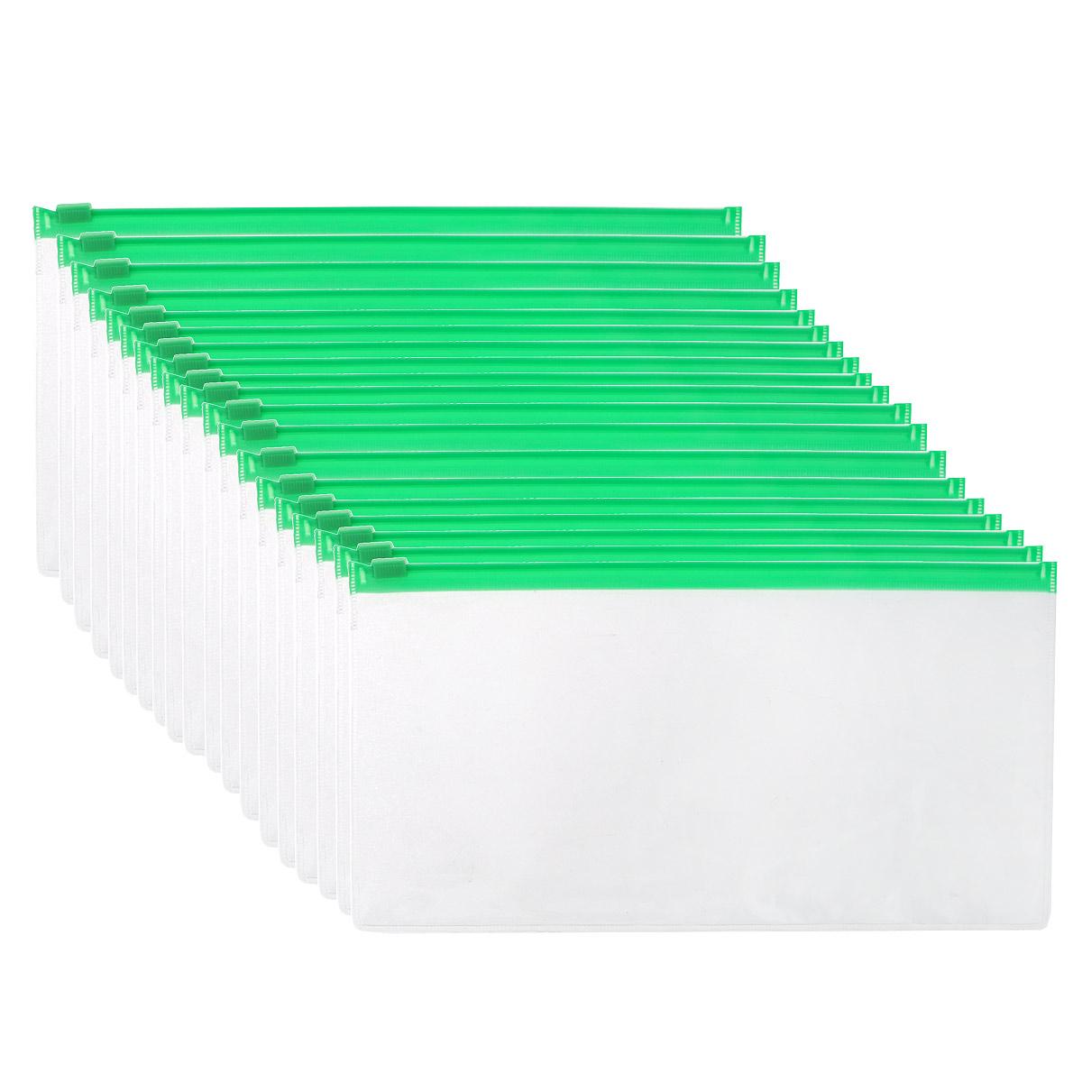 Папка-конверт Centrum, на молнии пластиковая, евроформат А5, цвет: зеленый, 20 шт80027ОКомпактная папка-конверт Centrum - это удобный и практичный офисный инструмент, предназначенный для хранения и транспортировки рабочих бумаг и документов евроформата А5. Папка изготовлена из прозрачного пластика, закрывается на практичную застежку-молнию, имеет опрятный и неброский вид. В комплект входят 20 папок евроформата А5. Папка-конверт - это незаменимый атрибут для студента, школьника, офисного работника. Такая папка надежно сохранит ваши документы и сбережет их от повреждений, пыли и влаги.