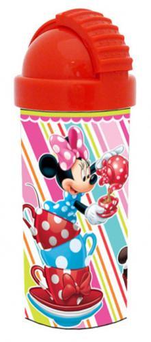 Фляга с крышкой и силиконовой трубочкой и стерео изображением МИННИ с пирожными (400 мл)558М2Произведено по лицензии Walt Disney.