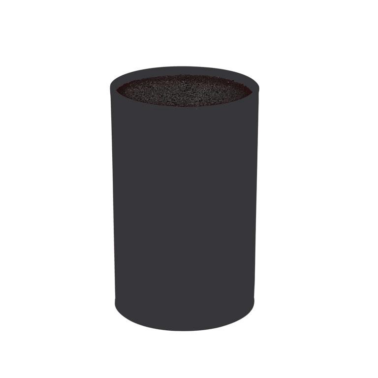 Подставка для ножей с полипропиленовыми разделителями 9x9x16 см черная1516020UПодставка для ножей с полипропиленовыми разделителями 9x9x16 см черная