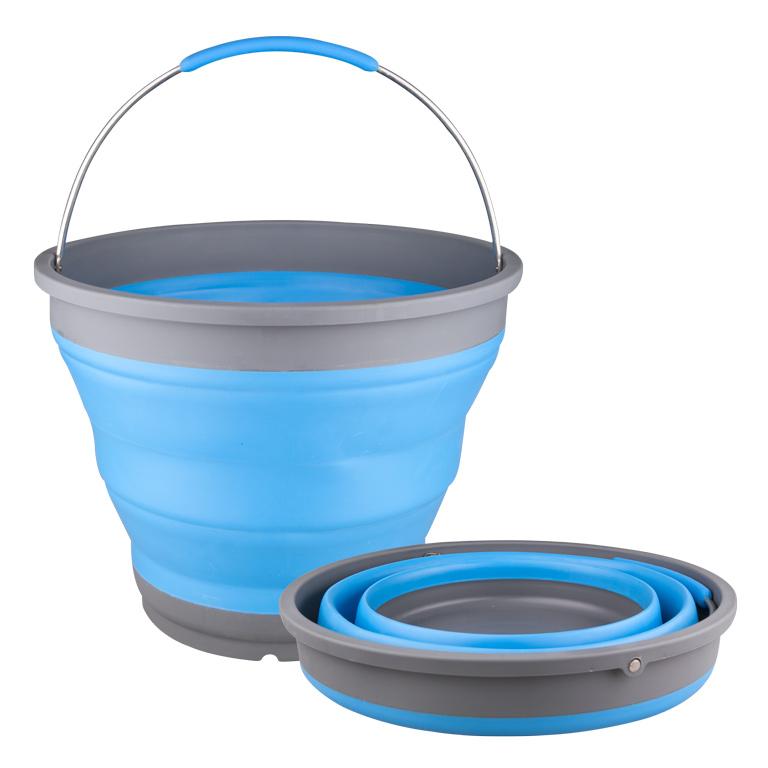 Ведро складное 7л O28 см, голубое2503004UВедро складное 7л O28 см, голубое