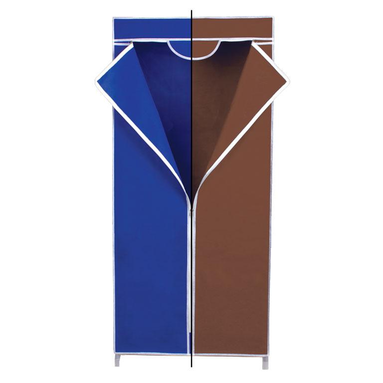 Гардероб для хранения одежды Miolla, с перекладиной, цвет: синий, коричневый, 150 х 67 х 42 см2507048UГардероб Miolla - это идеальное решение для хранения одежды, обуви и аксессуаров. Само изделие выполнено из нетканого материала, а каркас - из прочного металла, благодаря чему изделие не деформируется и отлично сохраняет форму. Гардероб имеет перекладину. Такой гардероб поможет с легкостью организовать пространство в шкафу или гардеробе.
