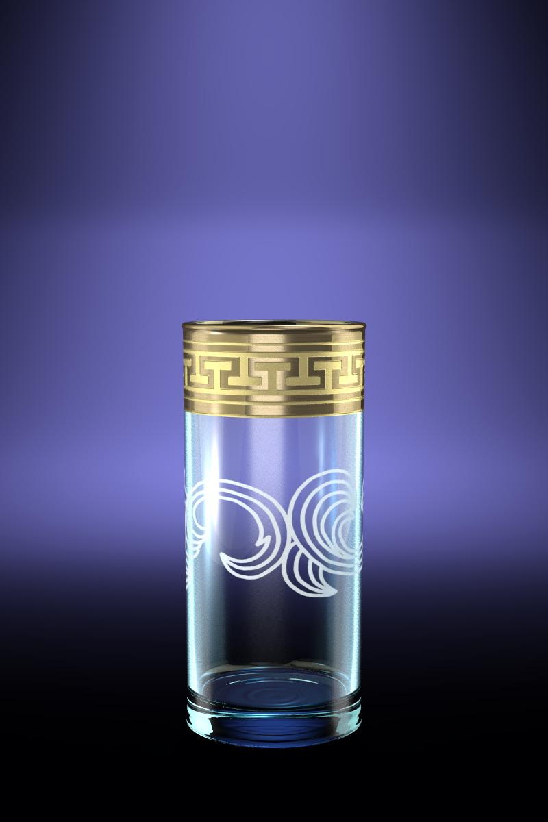 Набор 6 стаканов для сока с рисунком Греческий узор 290 млGE01-402Набор 6 стаканов для сока с рисунком Греческий узор 290 мл