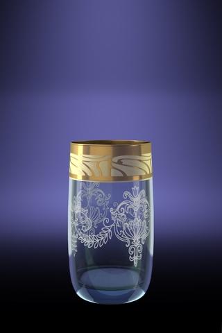 Набор 6 стаканов Эдем для сока с рисунком Мускат 330 млGE05-809Набор 6 стаканов Эдем для сока с рисунком Мускат 330 мл