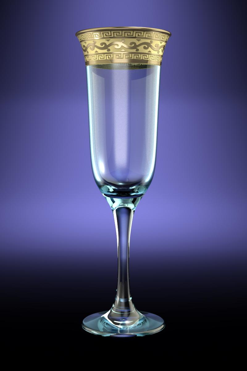 Набор 6 бокалов Юнона с рисунком Версаче 210 млGE08-883Набор 6 бокалов Юнона с рисунком Версаче 210 мл стекло