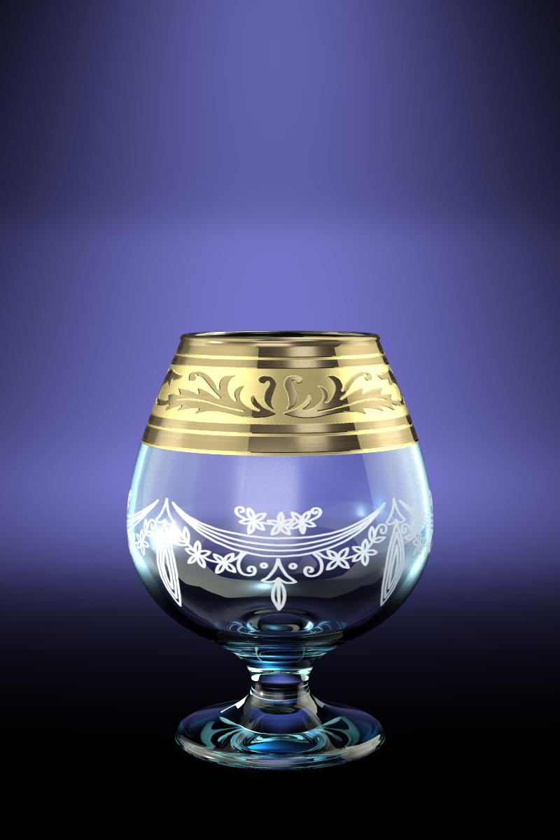 Набор 6 бокалов для бренди с рисунком Русский узор 400 млGE09-188Набор 6 бокалов для бренди с рисунком Русский узор 400 мл стекло
