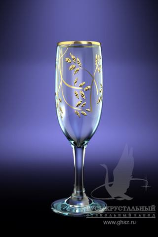 Набор 6 бокалов с рисунком Колосок 190 млK28-419Набор 6 бокалов с рисунком Колосок 190 мл стекло