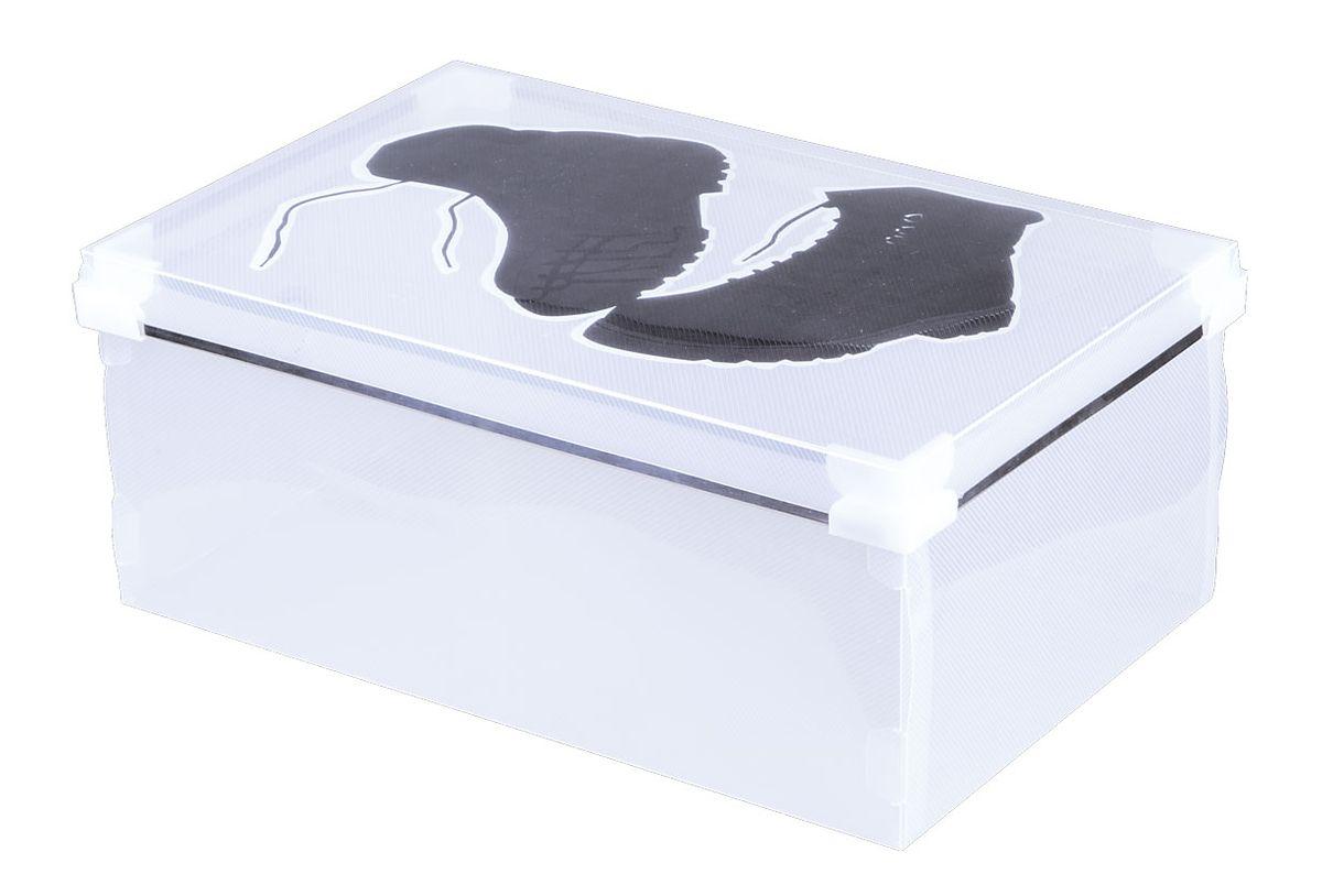 Короб для хранения обуви Miolla, 34 x 22 x 14 смPB-006Короб для хранения Miolla изготовлен из прозрачного полипропилена. Короб поставляется в разобранном виде, легко и быстро складывается. Оснащен крышкой. Такой короб прекрасно подойдет для хранения обуви. Размер короба: 34 x 22 x 14 см.
