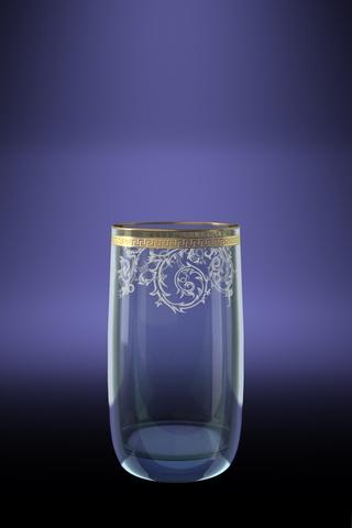 Набор 6 стаканов для сока Эдем с рисунком Каскад 330 млTL40-809Набор 6 стаканов для сока Эдем с рисунком Каскад 330 мл стекло