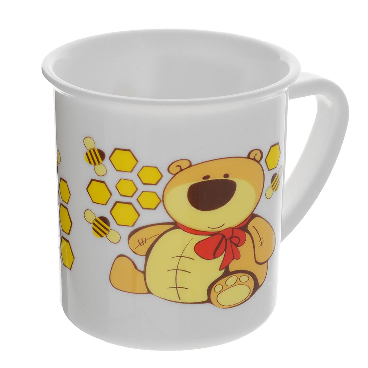 Canpol Babies Чашка детская Мишка цвет желтый4/413_желтый/мишкаДетская чашка Canpol Babies предназначена для того, чтобы приучить малыша пить из посуды для взрослых. Чашка выполнена из безопасного полипропилена и оформлена изображением забавного котика. Чашка выглядит совсем как обычная, однако она меньше по объему. Если случайно малыш уронит чашку, то она не разобьется.