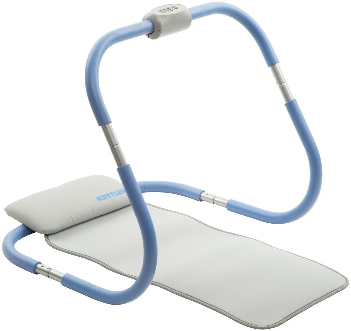 """Kettler Тренажер для мышц брюшного пресса Kettler """"AB-Roller"""", цвет: голубой, жемчужно-белый, 67 см х 63 см х 57,5 см"""
