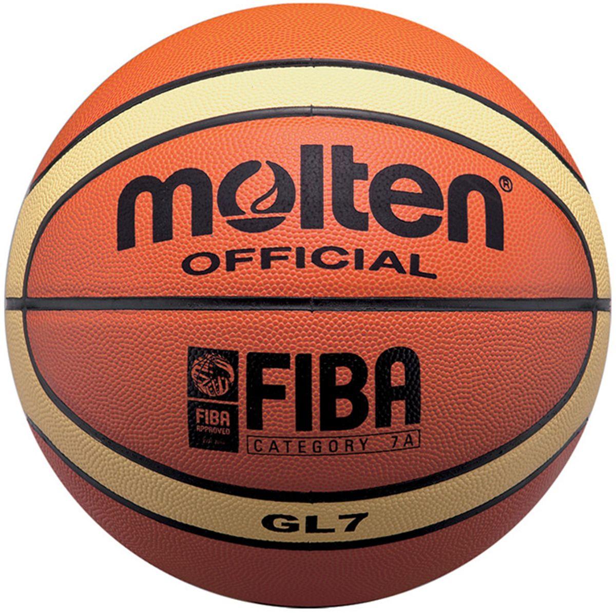 "Molten Мяч баскетбольный Molten ""GL7"", цвет: оранжевый. Размер 7"