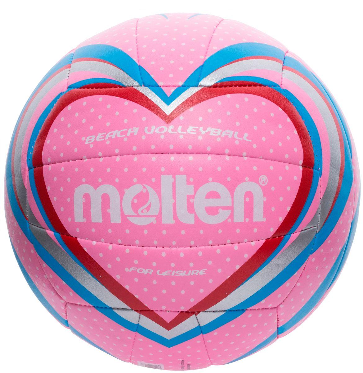 Мяч для пляжного волейбола Molten, цвет: розовый. Размер 5V5B1501-PМяч Molten предназначен для занятий пляжным волейболом. Изготовлен из тонкой синтетической кожи для мягкого контакта с рукой. Машинное шитье.