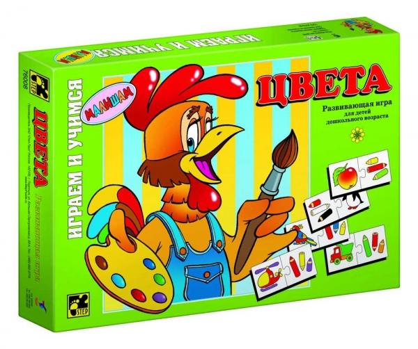 Step Puzzle Развивающая игра Цвета76008Играем и учимся! Развивающая игра для дошкольников. Благодаря простым правилам и ярким картинкам, ребенок, наряду с получаемыми знаниями, развивает ассоциативное мышление, память, мелкую моторику рук.