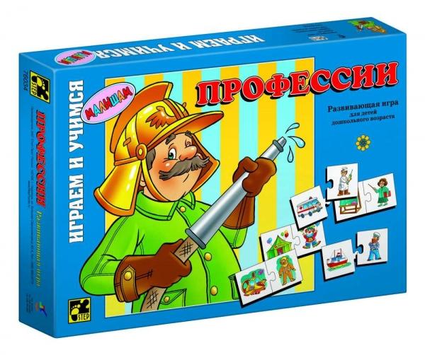 Step Puzzle Развивающая игра Профессии76034Играем и учимся! Развивающая игра для дошкольников. Благодаря простым правилам и ярким картинкам, ребенок, наряду с получаемыми знаниями, развивает ассоциативное мышление, память, мелкую моторику рук.