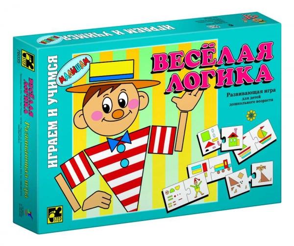 Step Puzzle Развивающая игра Веселая логика76035Играем и учимся! Развивающая игра для дошкольников. Благодаря простым правилам и ярким картинкам, ребенок, наряду с получаемыми знаниями, развивает ассоциативное мышление, память, мелкую моторику рук.