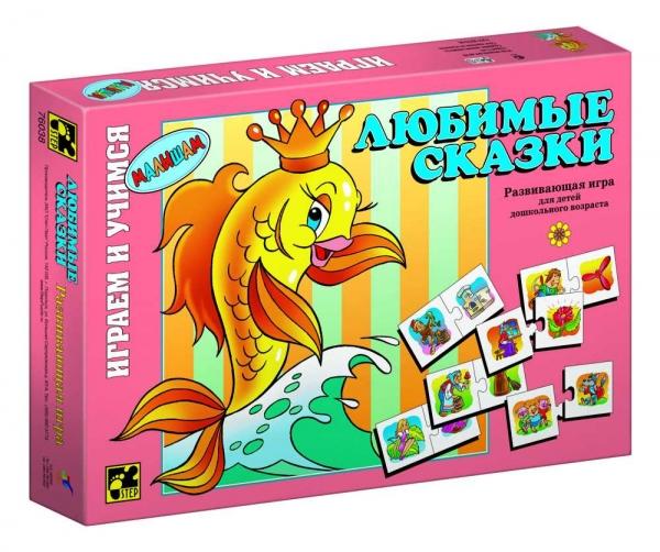 Step Puzzle Развивающая игра Любимые сказки76038Играем и учимся! Развивающая игра для дошкольников. Благодаря простым правилам и ярким картинкам, ребенок, наряду с получаемыми знаниями, развивает ассоциативное мышление, память, мелкую моторику рук.