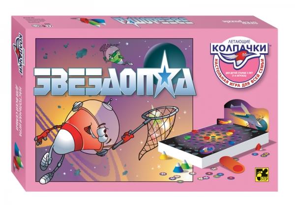 Step Puzzle Настольная игра Звездопад Летающие колпачки76043Увлекательная веселая игра развивает внимание и ловкость и одновременно прививает ребенку начальные навыки счета.