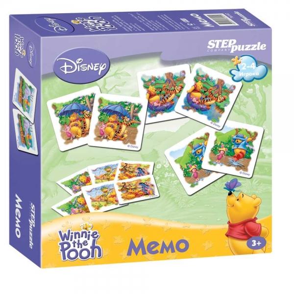 Step Puzzle Развивающая игра Disney Медвежонок Винни76102Лучшая игра для развития памяти и наблюдательности, заключающаяся в подборе одинаковых карточек в пары.
