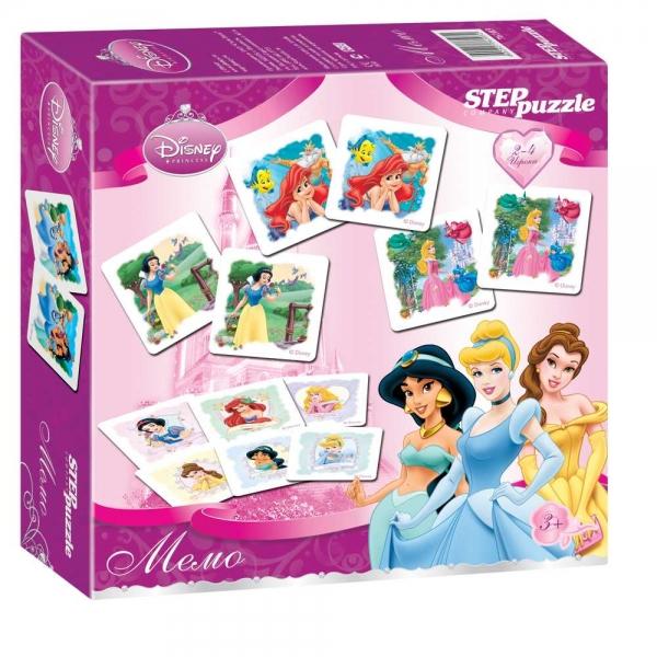 Step Puzzle Настольная игра Disney Принцессы76103Лучшая игра для развития памяти и наблюдательности, заключающаяся в подборе одинаковых карточек в пары.