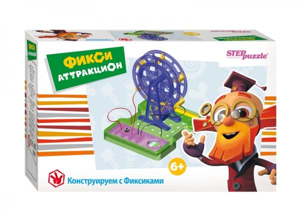 Развивающая игра Фикси - аттракцион76152Игра-конструктор «Фикси-аттракцион» из серии «Конструируем с Фиксиками» дает начальное представление об электромагнитных явлениях. Собирая модель колеса обозрения, ребенок получает навык конструирования, учиться читать и понимать чертежи, развивает мелкую моторику, внимание, память.