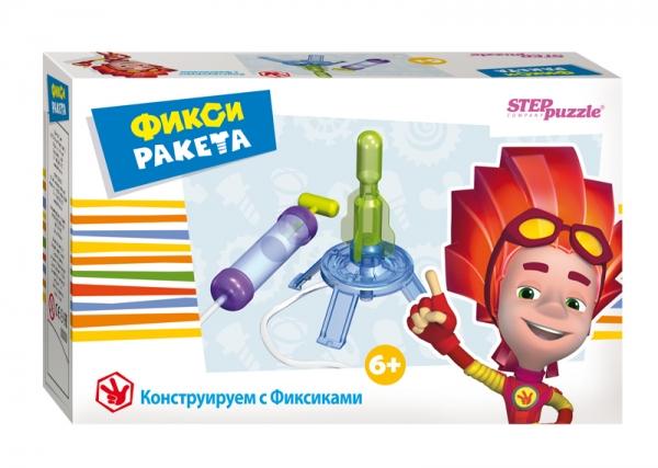 Step Puzzle Развивающая игра Фикси-ракета76162Игра-конструктор Фикси - ракета из серии Конструируем с Фиксиками дает начальное представление об атмосфере и давлении газа. Собирая модель ракеты, ребенок получает навык конструирования, учиться читать и понимать чертежи, развивает мелкую моторику, внимание, память.