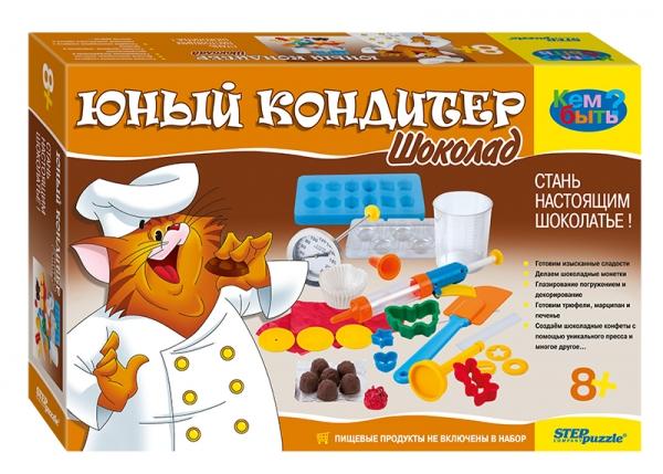 Юный кондитер Шоколад. Набор для творчества76304Набор «Юный кондитер. Шоколад» - вкусное удовольствие для всей семьи. Предназначен для всех начинающих шоколатье. Вы узнаете всё, что известно о шоколаде, его приготовлении, а также обо всем, что можно из него сделать. В набор входят все необходимые приспособления для изготовления шоколада. Сборник рецептов с подробной инструкцией позволит приготовить множество сладостей и угостить ими друзей. Наслаждайтесь!