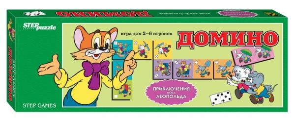 Step Puzzle Домино Приключения кота Леопольда80001Домино - классическая игра, ведущая свою историю от начала 12 века. Развивает внимание, наблюдательность, логическое мышление.