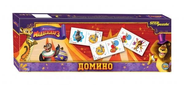 Step Puzzle Домино Мадагаскар 380110Домино - классическая игра, ведущая свою историю от начала 12 века. Развивает внимание, наблюдательность, логическое мышление.