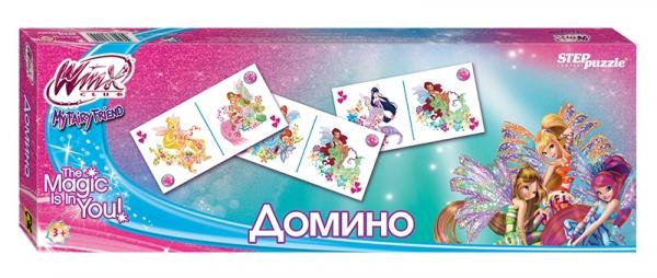 Step Puzzle Домино Winx80111Домино - классическая игра, ведущая свою историю от начала 12 века. Развивает внимание, наблюдательность, логическое мышление. В каждый комплект входит 28 карточек с любимыми героями WINX.