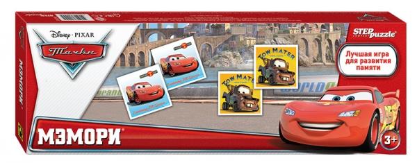 Step Puzzle Развивающая игра Мэмори Disney Тачки80202Классическая игра мемори. Разложите карточки на стол картинками вниз. Открывая по две карты, соберите как можно больше пар с героями «Тачек» Disney. Игра способствует развитию памяти, внимания.