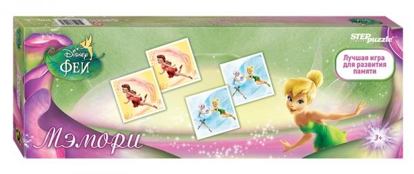 Step Puzzle Развивающая игра Disney Феи80203Классическая игра мемори. Разложите карточки на стол картинками вниз. Открывая по две карты, соберите как можно больше пар с Феями Disney. Игра способствует развитию памяти, внимания.