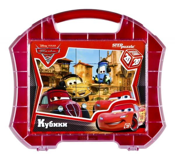 Тачки-2 20 кубиков в чемоданчике87123Яркие запоминающиеся образы любимых героев Disney создают положительный настрой во время игры и помогают справиться с задачей. Кубики из серии Disney рекомендованы для детей от 3 лет.